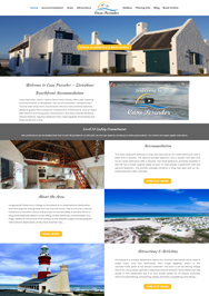 accommodation website designers southern suburbs cape town
