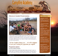 WORDPRESS WEBSITE - click here to go to www.campfire-safaris.com