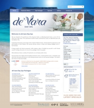 Wordpress website Devara Day Spa