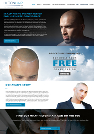 Hilton Hair website