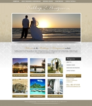 Weddings to Honeymoons wordpress website design